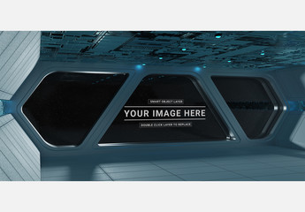Dark Spaceship Interior Mockup