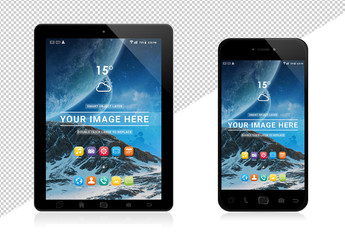 Smartphone and Tablet Mockup