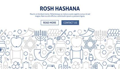 Rosh Hashana Banner Design