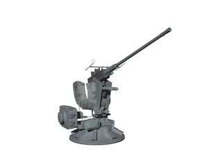 Flakgeschütz im Einsatz