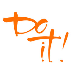 do it lettering template