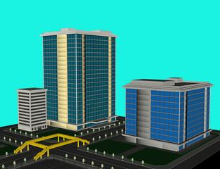 Wolkenkratzer in Metropole