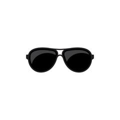 sunglasses vector icon, simple design black color isolated white background