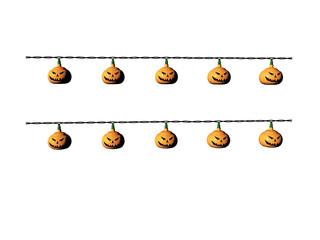 Kürbislampion zu Halloween