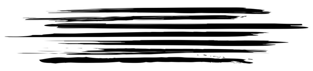 Header mit horizontalen, schwarz-weißen Pinselstrichen / Vektor