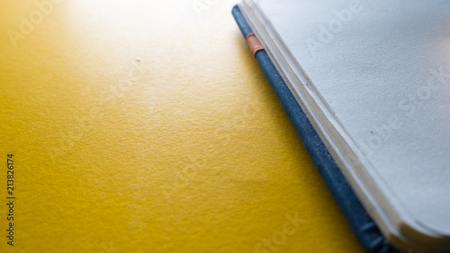 Wall mural notebook close up business concept