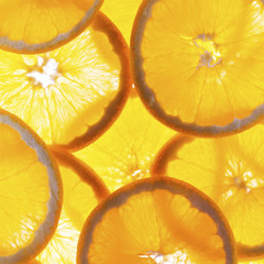 Slices of fresh orange background.