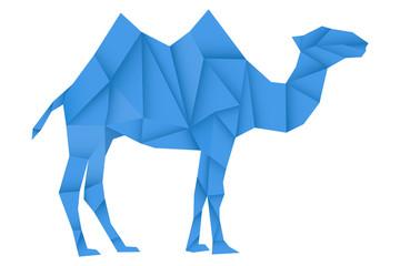 Blue camel. Polygonal