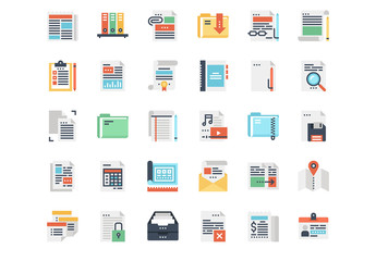 Files and Documents Icons