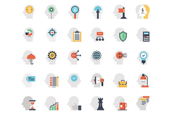 Business Mind and Thought Icons