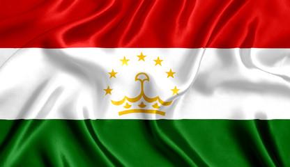 Flag Tajikistan silk