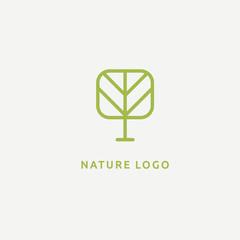 Abstract tree logo icon vector design. Landscape design, garden, Plant, nature and ecology vector logo