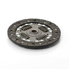 Car clutch disc isolated on a white background.