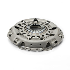 Car clutch basket disc isolated on a white background.