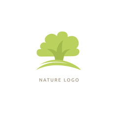 Abstract tree logo icon vector design. Landscape design, garden, Plant, nature and ecology, Environmental protection, ecology, Botanical Garden, park, forest, vector sign. vector logo