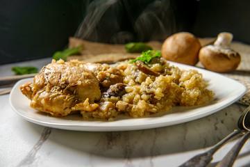 Chicken Mushroom Quinoa