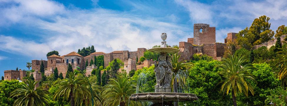 View on the famous Alcazar of Malaga, Spain