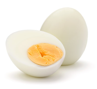 boiled egg isolated on white background cutout