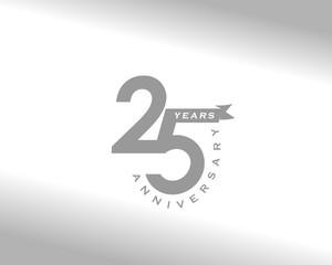 Fototapeta 25 years Anniversary logo obraz
