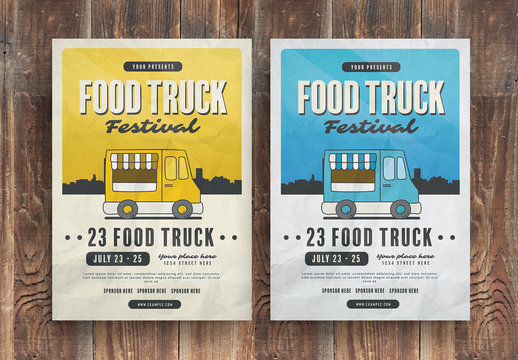 Food Truck Flyer Layout