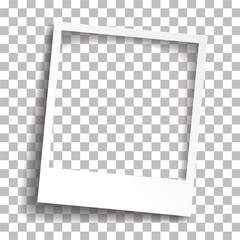 Bevel Instant photo frame vector design illustration Torn paper is a picture frame isolated of transparency. EPS 10