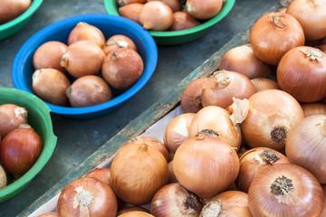 Onion in street market