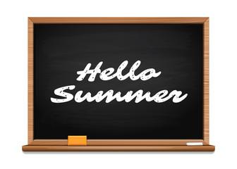 Hello summer. Summer lettering design. Vector illustration