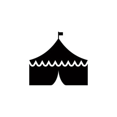 circus tent glyph style icon. Element of circus icon for mobile concept and web apps. Glyph style circus tent icon can be used for web and mobile