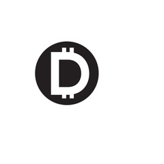 D Letter Currency Money Logo Vector element. Currency logo template