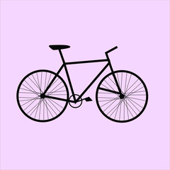 Black Bicycle Vector