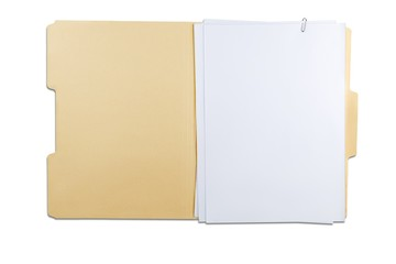 File Folder with Blank Pages