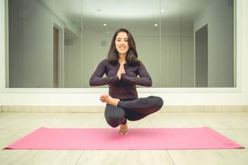 Yoga girl training