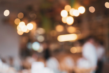 cafe restaurant with abstract bokeh lights defocused blur background Wall mural