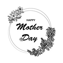 """Mother day concept with hand written text """"happy mother's day"""""""