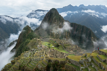 Machu Picchu Through the Fog