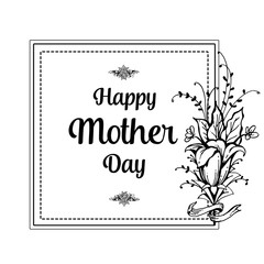 Happy Mothers Day beautiful greeting card vector illustration