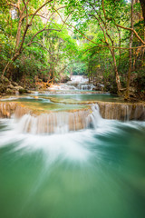 Wall Mural - beautiful waterfall in the forest, Thailand