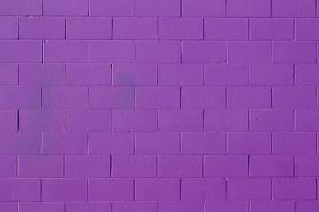 Purple painted concrete block wall