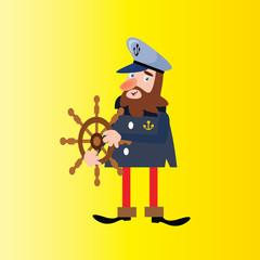 happy funny joyful seaman navy sailor marine mariner cartoon character