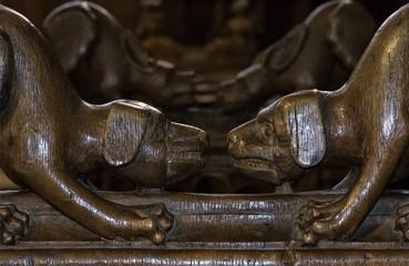 Stalles de la cathédrale Notre-Dame à Bourg-en-Bresse, Ain, France