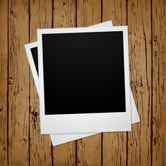 Vector Polaroid Photo on Wood