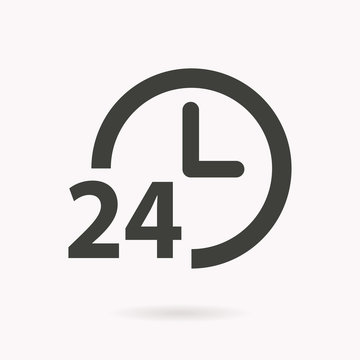 24 hour service vector icon.