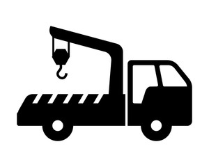 crane vehicle transportation transport image vector icon logo