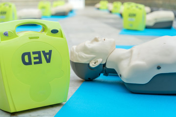 model for cpr and AED training (automated external defibrillator)