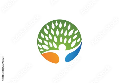 Family Tree Symbol Icon Logo Design Stock Image And Royalty Free