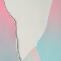 Creative layout made of gradient  pastel pink and blue paper backround. Minimal flat lay.