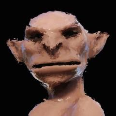 Digital Painting of a creepy Creature