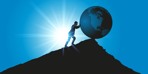 environnement - climat - planète - terre - concept - symbole - destruction - changement climatique