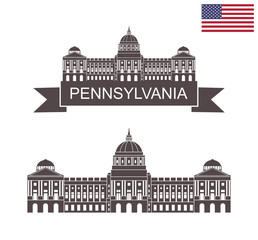 Commonwealth of Pennsylvania. Pennsylvania State Capitol in Harrisburg