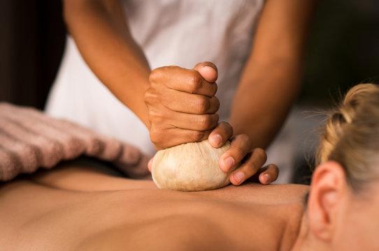 Pinda ayurvedic massage at spa